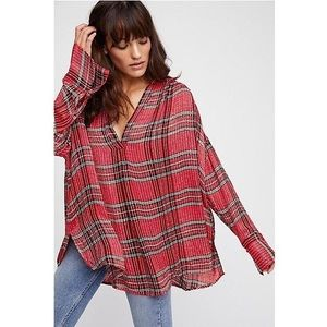 NEW Free People fearless love plaid sequin top